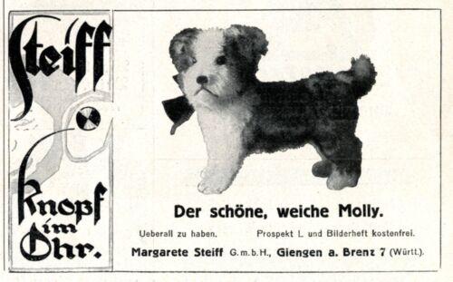 Steiff dog Molly German 1926 ad Germany advertising