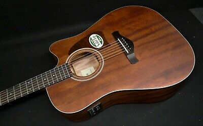 Ibanez AW54CE-OPN ARTWOOD SOLID Mahogany Top ACOUSTIC ELECTRIC CUTAWAY  Fishman