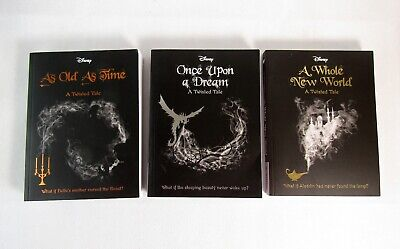 3 x Disney Twisted Tale Book Bundle by Liz Braswell Paperback - Great Condition