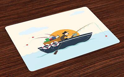 Barco de la vendimia Salvamantel Set de 4 Unidades Fisher hombre Hobby