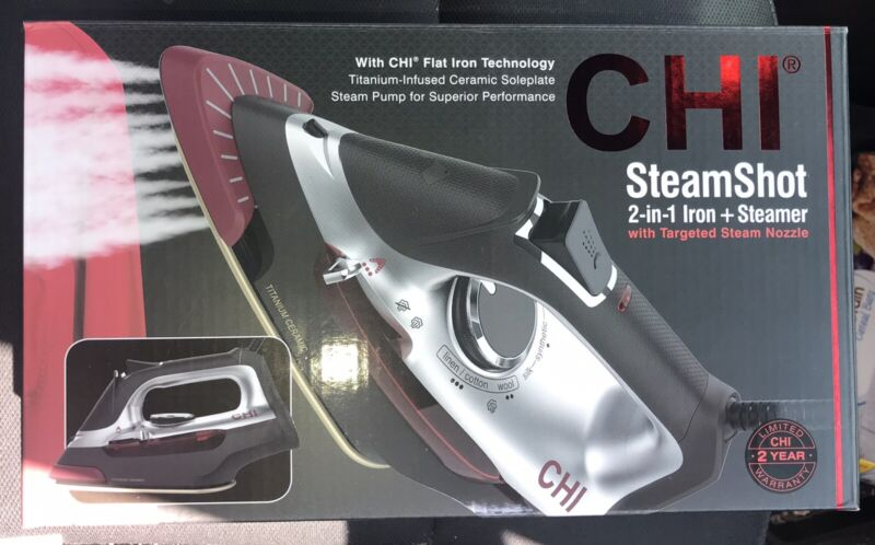 CHI SteamShot 2-in-1 Iron and Steamer With CHI Flat Iron Technology