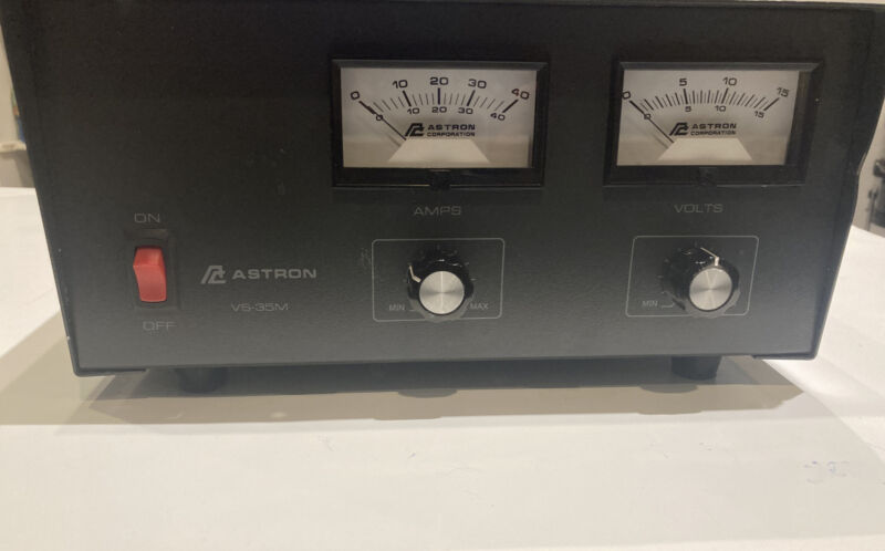 GOVT EXCESS Astron VS-35M  Power Supply Amateur; Removed From Working Env