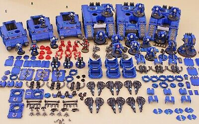 Warhammer 40k ENTIRELY Pro Painted magnetized Space Marines Army Lot Battleforce