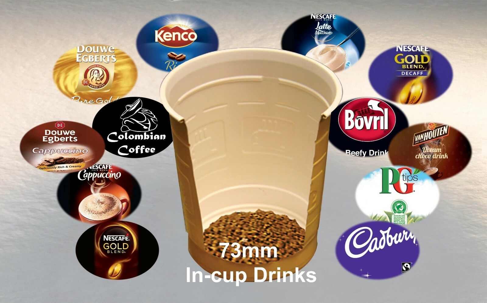 Douwe Egberts White Coffee 73mm In-cup vending drinks