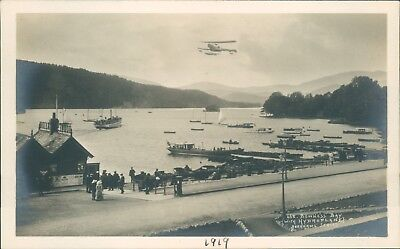 Real photo 1919 Hydroplane Takeoff Bowness Cumbria G.P Abraham Keswick unposted
