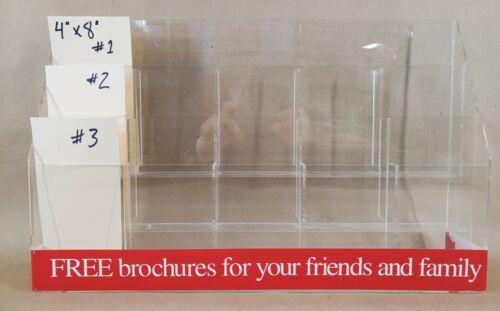 Acrylic literature display brochure pamphlet rack holder dental chiropractic 15