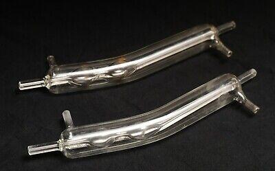 Qty 2 Kontes Lab Glassware Condensers 200 Sga Pyrex Glass
