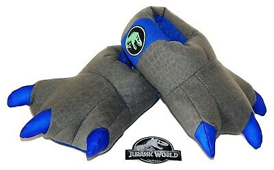 JURASSIC WORLD Plush Light-Up Dinosaur Claw Slippers Size 7-8, 9-10 or 11-12 NWT