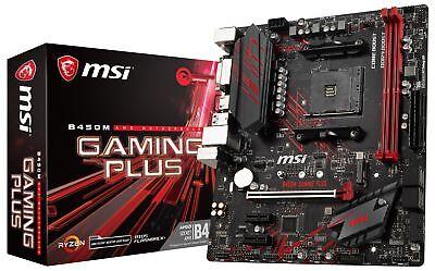 MSI B450M GAMING PLUS Socket AM4 AMD B450 SATAIII USB3.0 Micro-ATX Motherboard