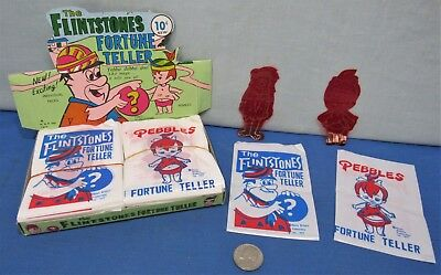 10₵ Novelty Fortune Tellers ~ Fred Flintstone & Pebbles 1977 Store Display Box