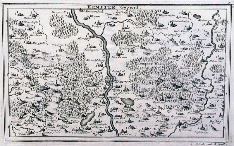 Antique map, Kempter