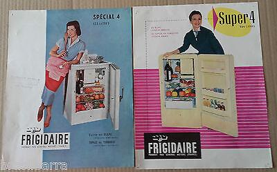 2 PROSPECTUS PUBLICITAIRES pour les réfrigérateurs Frigidaire Années 50