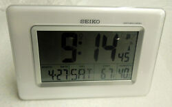 SEIKO GLOBAL R/WAVE FOR DESK OR WALL PLACEMENT W/ THERM., & HYGROMETER QHR020WLH