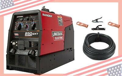 250 Gxt Engine Lincoln Ranger Welder Generator K2382-4 Cable Package