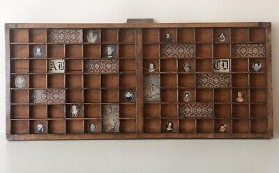 Tudor Elizabethan Theme Artwork - Old Letterpress Type Case Printers Drawer Tray