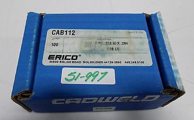 Cadwell Erico 212idx.264 116 Lg Cab112 Nib