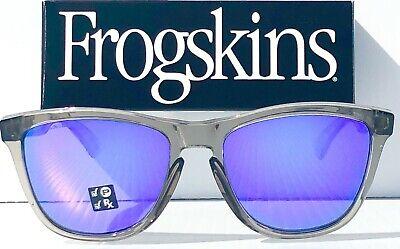 NEW* Oakley Frogskins Grey Ink Crystal POLARIZED Violet Purple Sunglass (Oakley Frogskins Violet)