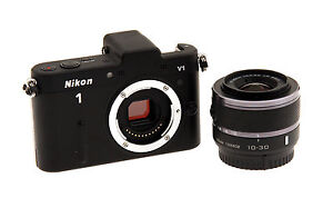 DEMO Nikon 1 V1 10.1 MP Digital Camera - Black (Kit w/ VR 10-30mm Lens)