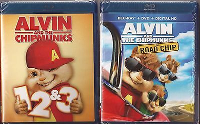 Alvin and The Chipmunks 1, 2, 3 & 4 - Blu-ray Movie Collection BRAND