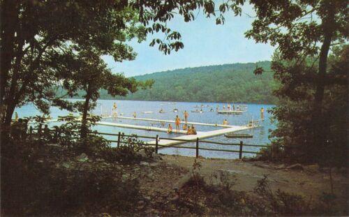 NJ Newton CAMP KEN-Etiwa-Pec Swimming Lake BOY SCOUTS OF AMERICA  postcard