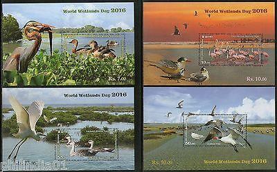 Sri Lanka 2016 World Wetlands Day Wildlife Sanctuary Bird National Park M/s MNH