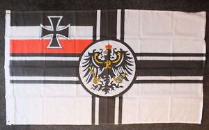 German 2nd Reich WW1 Kaiser Flag Military Iron Cross Deutschland Wehrmacht Kreuz