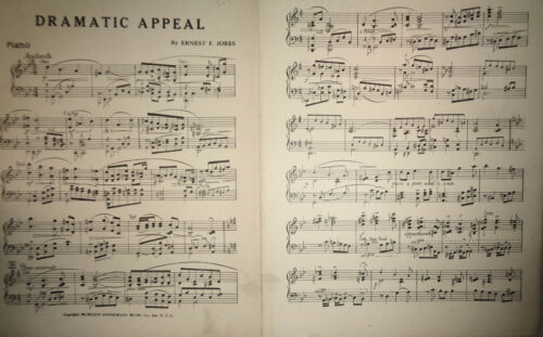 Dramatic appeal, by Ernest F Jores - 1926, orchestra score