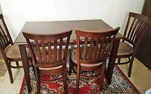 Stunning Dark Walnut Dining Table & 4 Chairs Sydney City Inner Sydney Preview