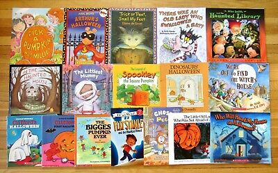 Halloween Themed Treats (Lot 17 HALLOWEEN THEMED Children's Picture Books pumpkins trick or treat)