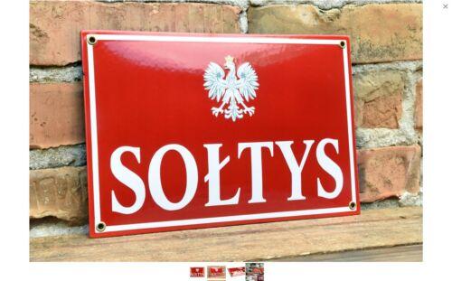 Original Enamel Polish Soltys Sign from Poland