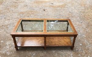 """""""Vintage Glass Top Coffee Table"""""""