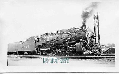 6F201 RP 1940s? AT&SF SANTA FE RAILROAD ENGINE #3284