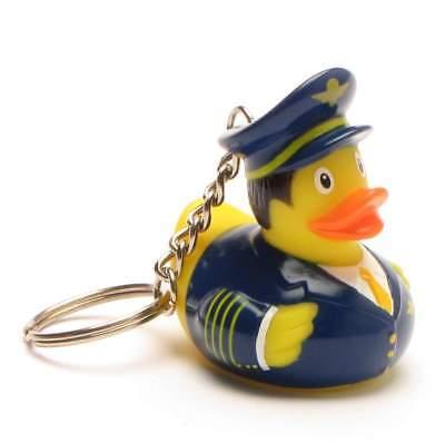 Schlüsselanhänger Badeente Pilot Quietscheentchen Quietscheente Gummiente Ente