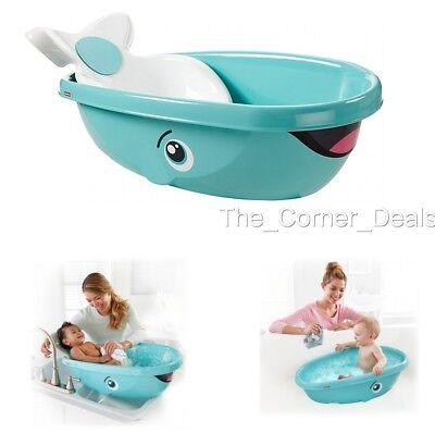 Fisher Price Whale Baby Kids Toddler Newborn Shower Bath Safety Seat Tub Bathtub