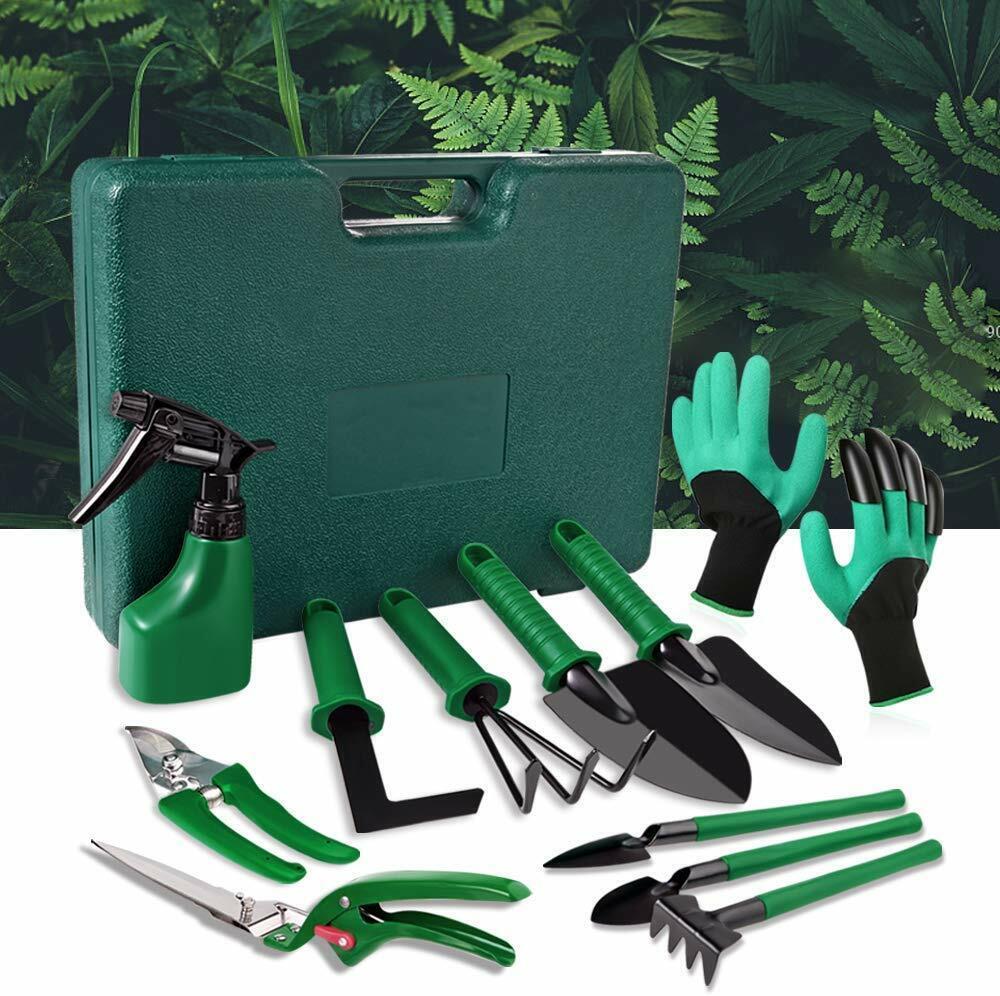 9PCS Garden Stainless steel Tool Bag Set Tools Gardening Stainless Steel Gift