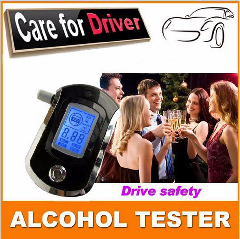 Portable Digital Breath Alcohol Tester With 5 Mouth Pieces Portable Breathalyzer