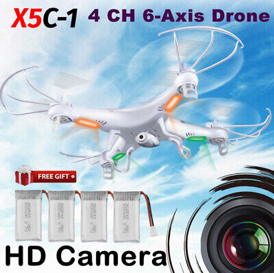 Upgraded X5C-1  RC Quadcopter Drone 2.4G 6-Axis 2.0MP Camera + Free Batteries HT