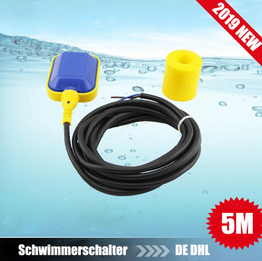 oder Entleeren 250V 5M Schwimmerschalter Tauchpumpe Wechsler zum Befüllen und