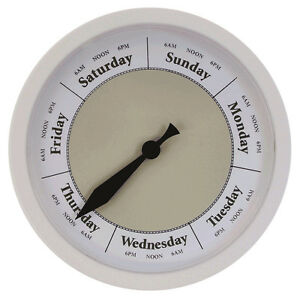 DAY-OF-THE-WEEK-CLOCK-D294W-Light-Khaki-Day-Clock
