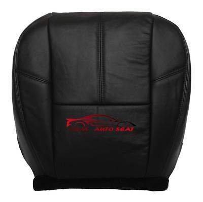 2007-2014 Chevy Silverado 1500 LT, LTZ Driver Bottom Leather Seat Cover Black
