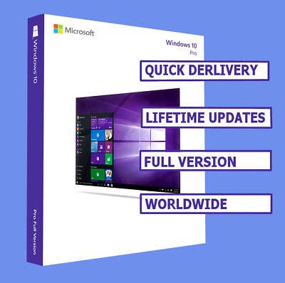 Windows 10 Professional 32/64 Bit Retail Genuine Activation Key, Send In 2 Min