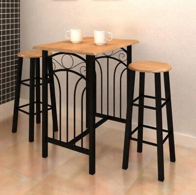 2 Seater Dining Table And Chairs Breakfast Bar Kitchen Room Small Furniture Set