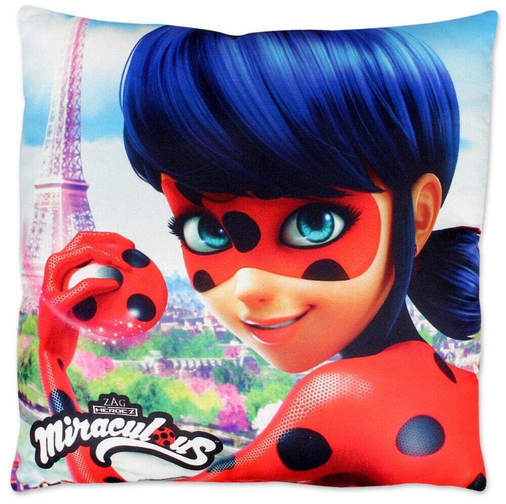 Miraculous Ladybug Kinder Kissen Kopfkissen Kuschelkissen Dekokissen 40x40cm