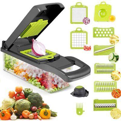 10 In 1 Vegetable Chopper Slicer Onion Dicer Veggie Slicer With Colander Basket