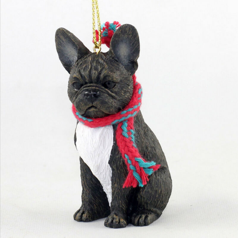 French Bulldog Christmas Scarf Ornament