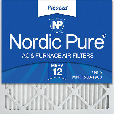 Nordic Pure 20x20x1 MERV 12 Pleated AC Furnace Air Filters,