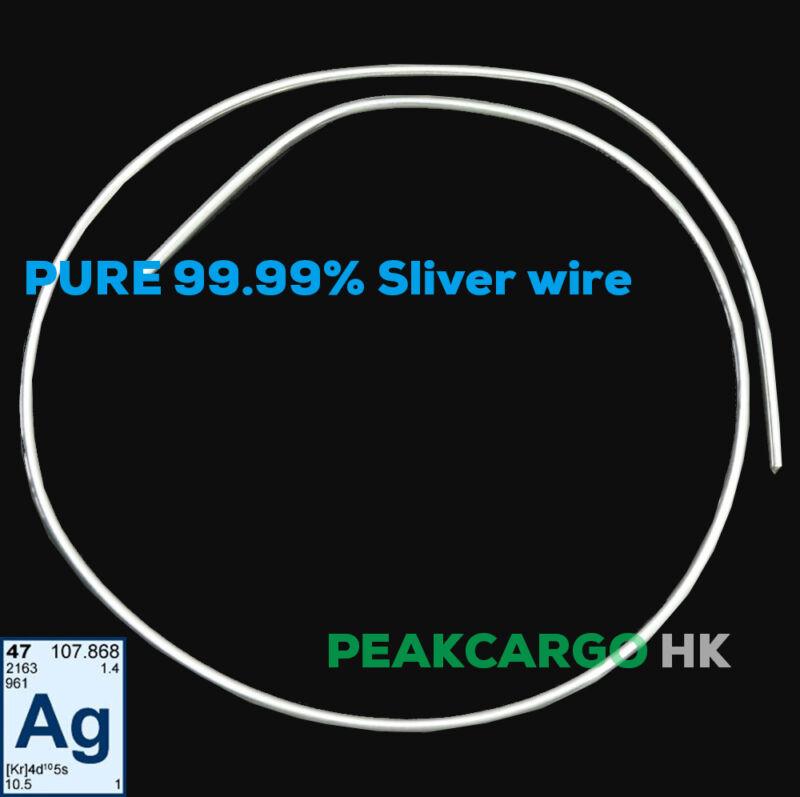 """99.99% Pure Silver Round Wire Metal Element Solder Gauge 22 - Dia. 0.025"""""""