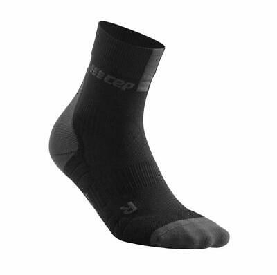 Men's Crew Cut Compression Socks - CEP Short Socks 3.0 Black