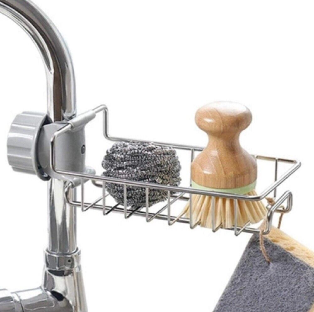 Drain Rack Storage Holder Shelf-Kitchen Sink Faucet Sponge Soap Cloth US Home & Garden