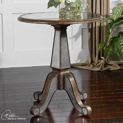 Uttermost Eraman, Accent Table - Round Top - Pedestal Base x